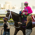 January 25, 2020: #1, Zulu Alpha, digs in and steals the 2nd running of the $1,000,000 Pegasus World Cup Turf Invitational under Jockey Tyler Gaffalione for Trainer Mike Maker at Gulfstream Park on January 25, 2020 in Hallandale Beach, FL. (Photo by Carson Dennis/Eclipse Sportswire/CSM)