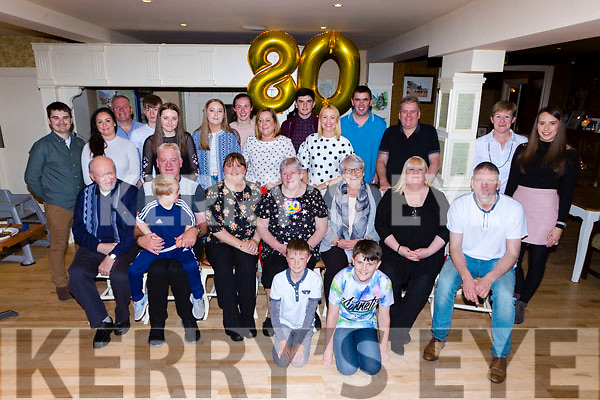 Maureen Cronin Brendans Terrace Killarney celebrated her 80th birthday with her family and friends in Kate Kearneys restaurant on Sunday