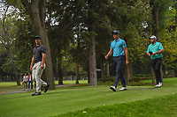 Thorbjorn Olesen (DEN), Henrik Stenson (SWE), and Shane Lowry (IRL) make their way to the tee on 7 during round 3 of the World Golf Championships, Mexico, Club De Golf Chapultepec, Mexico City, Mexico. 2/23/2019.<br /> Picture: Golffile | Ken Murray<br /> <br /> <br /> All photo usage must carry mandatory copyright credit (© Golffile | Ken Murray)