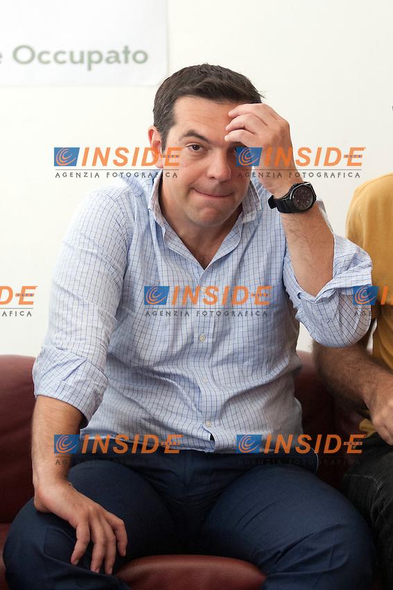 Alexis Tsipras<br /> Roma 18-07-2014 Alexis Tsipras al Teatro Valle occupato.<br /> Alexis Tsipras visits the Valle Theatre<br /> Photo Samantha Zucchi Insidefoto