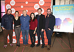 Michael Chernus, Tracee Chimo, Terrence McNally, America Ferrera, Austin Lysy and Peter Dubois attends the 'Lips Together Teeth Apart' Meet and Greet at Second Stage Theatre on September 25, 2014 in New York City.