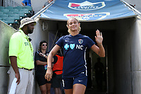 Cary, North Carolina  - Saturday August 19, 2017: Lynn Williams prior to a regular season National Women's Soccer League (NWSL) match between the North Carolina Courage and the Washington Spirit at Sahlen's Stadium at WakeMed Soccer Park. North Carolina won the game 2-0.