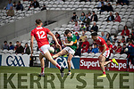 Dylan Geaney Kerry in action against Adam Walsh-Murphy Cork during the Munster Minor Football Final between Kerry and Cork at Pairc Ui Chaoimh, Cork