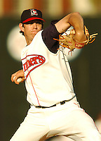 June 21 2008:  Kyle Weiland of the Lowell Spinners at LeLacheur Park in Lowell, MA.  Photo by:  Ken Babbitt/Four Seam Images.