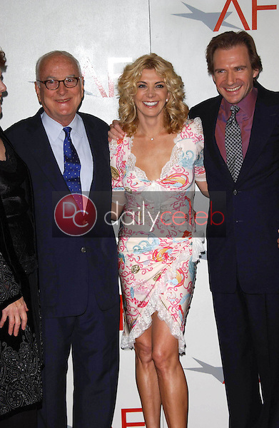 James Ivory with Natasha Richardson and Ralph Fiennes<br />