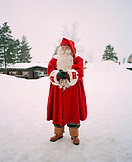 FINLAND, Rovaniemi, portrait of Santa Claus in the Santa Clause Village.