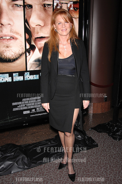 "SARAH FERGUSON, Duchess of York, at an industry screening for ""The Departed"" at the Directors Guild of America, Los Angeles..October 5, 2006  Los Angeles, CA.Picture: Paul Smith / Featureflash"
