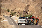 The breakaway group in action during Stage 5 of the 2018 Tour of Oman running 152km from Sam'il to Jabal Al Akhdhar. 17th February 2018.<br /> Picture: ASO/Muscat Municipality/Kare Dehlie Thorstad | Cyclefile<br /> <br /> <br /> All photos usage must carry mandatory copyright credit (&copy; Cyclefile | ASO/Muscat Municipality/Kare Dehlie Thorstad)