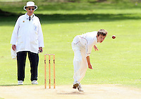 Billy Gordon of Hornchurch in bowling action  - Harold Wood Cricket Club vs Hornchurch Cricket Club at Harold Wood 10/05/09 - MANDATORY CREDIT: Rob Newell/TGSPHOTO - IMAGES USED WILL BE INVOICED AT STANDARD RATES. Gavin Ellis/TGSPHOTO, 27 Plaiters Way, Braintree, Essex CM7 3LR - Tel: 0845 0946026 - BACS details for payment: Gavin Ellis - A/C 31840312 Sort Code 40-17-08. NO UNPAID USE..