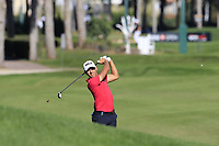 Joakim Lagergren (SWE) plays his 2nd shot on the 7th hole during Saturday's Round 3 of the 2018 Turkish Airlines Open hosted by Regnum Carya Golf &amp; Spa Resort, Antalya, Turkey. 3rd November 2018.<br /> Picture: Eoin Clarke | Golffile<br /> <br /> <br /> All photos usage must carry mandatory copyright credit (&copy; Golffile | Eoin Clarke)
