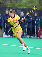 College Park, MD - April 19, 2018: Maryland Terrapins Grace Griffin (22) attempts a shot during game between Penn St. and Maryland at  Field Hockey and Lacrosse Complex in College Park, MD.  (Photo by Elliott Brown/Media Images International)