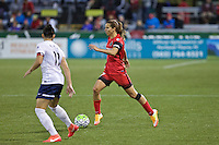 Portland, OR - Saturday, May 21, 2016: Portland Thorns FC midfielder Tobin Heath (17). The Portland Thorns FC defeated the Washington Spirit 4-1 during a regular season National Women's Soccer League (NWSL) match at Providence Park.
