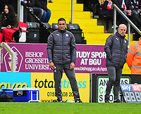 Chesterfield manager Jack Lester shouts instructions to his team from the technical area<br /> <br /> Photographer Andrew Vaughan/CameraSport<br /> <br /> The EFL Sky Bet League Two - Lincoln City v Chesterfield - Saturday 7th October 2017 - Sincil Bank - Lincoln<br /> <br /> World Copyright &copy; 2017 CameraSport. All rights reserved. 43 Linden Ave. Countesthorpe. Leicester. England. LE8 5PG - Tel: +44 (0) 116 277 4147 - admin@camerasport.com - www.camerasport.com
