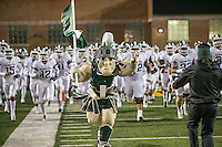 College Park, MD - October 22, 2016: Michigan State Spartans mascot leads the team out during game between Michigan St. and Maryland at  Capital One Field at Maryland Stadium in College Park, MD.  (Photo by Elliott Brown/Media Images International)
