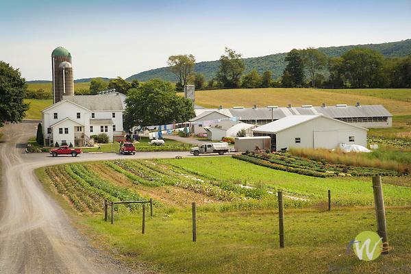 Sugar Valley. Amish farm