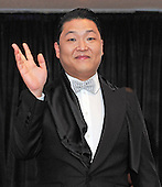 South Korean rapper Psy arrives for the 2013 White House Correspondents Association Annual Dinner at the Washington Hilton Hotel on Saturday, April 27, 2013..Credit: Ron Sachs / CNP.(RESTRICTION: NO New York or New Jersey Newspapers or newspapers within a 75 mile radius of New York City)