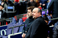 Tottenham Hotspur manager Mauricio Pochettino and Newcastle United manager Rafa Benítez during Tottenham Hotspur vs Newcastle United, Premier League Football at Wembley Stadium on 2nd February 2019