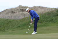 Tommy Fleetwood (ENG) on the 2nd green during Round 2 of the Betfred British Masters 2019 at Hillside Golf Club, Southport, Lancashire, England. 10/05/19<br /> <br /> Picture: Thos Caffrey / Golffile<br /> <br /> All photos usage must carry mandatory copyright credit (&copy; Golffile | Thos Caffrey)