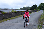Mary Kavanagh, Sneem pictured arriving at the half way break at Kilmackillogue Harbour in County Kerry whilst taking part in the annual Sneem Cycle, &ldquo;Wild Atlantic Challenge Charity Cycle&rdquo; in aid of Breakthrough Cancer Research at the weekend.<br /> Photo Don MacMonagle<br /> <br /> repro free photo<br /> Further info: Ann O'Sullivan ann@breakthroughcancerresearch.ie