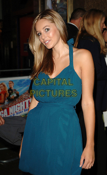 "KEELEY HAZEL.""Talladega Nights: The Ballad Of Ricky Bobby"" Premiere, Empire Leicester square, London. .September 12th, 2006.Ref: BEL.half length Keely blue halterneck dress.www.capitalpictures.com.sales@capitalpictures.com.©Tom Belcher/Capital Pictures."