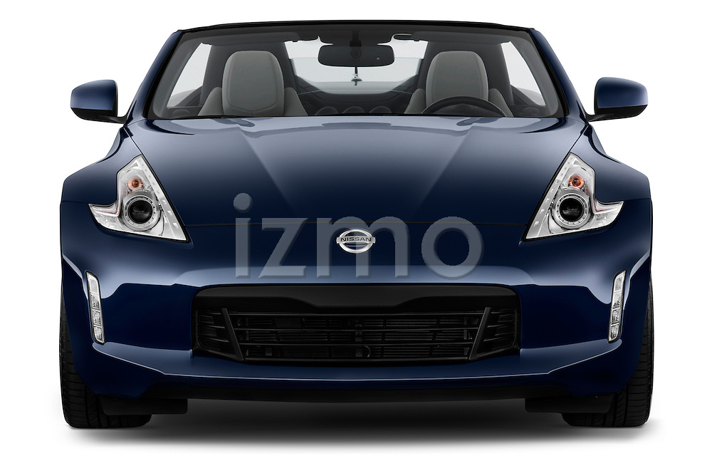 Straight front view of a 2013 Nissan 370Z AT Roadster