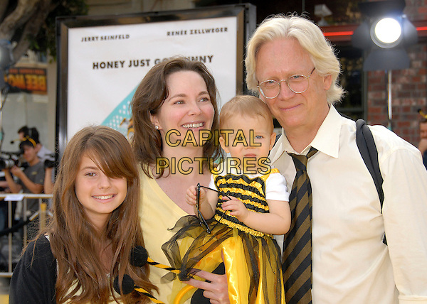 "BRUCE DAVISON & FAMILY.""Bee Movie"" Los Angeles Premiere at Mann's Village Theatre, Westwood, California, USA..October 28th, 2007.half length white yellow top .CAP/ADM/BP.©Byron Purvis/AdMedia/Capital Pictures."