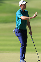 Justin Rose (ENG) taps in on the 3rd green during Saturday's Round 3 of the 2018 Turkish Airlines Open hosted by Regnum Carya Golf &amp; Spa Resort, Antalya, Turkey. 3rd November 2018.<br /> Picture: Eoin Clarke | Golffile<br /> <br /> <br /> All photos usage must carry mandatory copyright credit (&copy; Golffile | Eoin Clarke)