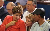 The President of Brazil Dilma Rousseff during Christmas with collectors of recycled products in the city of São Paulo, in this Friday, Dec. 21. PHOTO: VANESSA CARVALHO / BRAZIL PHOTO PRESS.