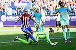 Atletico de Madrid Marta Corredera and FC Barcelona Sandra Paños during match of La Liga Femenina between Atletico de Madrid and FC Barcelona at Vicente Calderon Stadium in Madrid, Spain. December 11, 2016. (ALTERPHOTOS/BorjaB.Hojas)