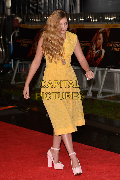 LONDON, ENGLAND - NOVEMBER 11: Willow Shield attend the UK premiere of 'The Hunger Games: Catching Fire' at Odeon Leicester Square on November 11, 2013 in London, England<br /> CAP/PL<br /> &copy;Phil Loftus/Capital Pictures