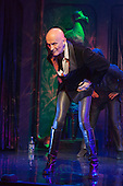 London, UK. 15 September 2015. Richard O'Brien doing the Time Warp on stage. The Rocky Horror Show, written and starring Richard O'Brien, returns to the West End for a limited run at the Playhouse theatre from 11 September 2015. The Rocky Horror Show Gala Performance on 17 September will be broadcast live to cinemas across the UK and Europe. With Richard O'Brien as Narrator, David Bedella as Frank'n'furter, Ben Forster as Brad, Haley Flaherty as Janet and Dominic Andersen as Rocky. Photo: Bettina Strenske