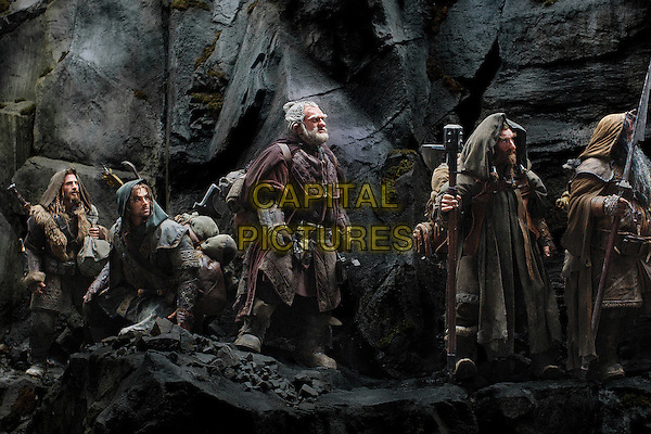 DEAN O'GORMAN as Fili, AIDAN TURNER as Kili, Mark Hadlow as Dori, Jed Brophy as Nori and WILLIAM KIRCHER as Bifur.in The Hobbit: An Unexpected Journey (2012).*Filmstill - Editorial Use Only*.CAP/FB.Supplied by Capital Pictures.