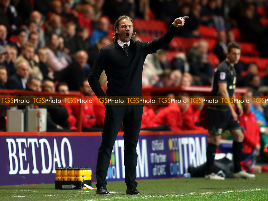 MK Dons Manager, Robbie Neilson during Charlton Athletic vs MK Dons, Sky Bet EFL League 1 Football at The Valley on 4th April 2017