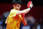Masaki Yoshida (JPN), <br /> AUGUST 27, 2018 - Table Tennis : <br /> Men's Team Preliminary Round <br /> at JIExpo Kemayoran Hall B <br /> during the 2018 Jakarta Palembang Asian Games <br /> in Jakarta, Indonesia. <br /> (Photo by Naoki Morita/AFLO SPORT)