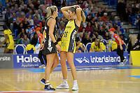Irene Van Dyk in action during the ANZ Championship 2014 - Haier Pulse v Waikato Magic at Te Rauparaha  Arena Centre, Porirua, Wellington, New Zealand on Monday 5 May 2014. <br /> Photo by Masanori Udagawa. <br /> www.photowellington.photoshelter.com.