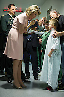 Queen Mathilde of Belgium during a visit to the military hospital Reine Astrid in Brussels - Belgium