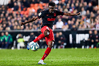 14th February 2020; Mestalla, Valencia, Spain; La Liga Football,Valencia versus Atletico Madrid; Thomas Partey of Atletico Madrid  shoots on goal