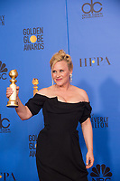 After winning the category of BEST PERFORMANCE BY AN ACTRESS IN A LIMITED SERIES OR A MOTION PICTURE MADE FOR TELEVISION for her role in &quot;Escape at Dannemora,&quot; actress Patricia Arquette poses backstage in the press room with her Golden Globe Award at the 76th Annual Golden Globe Awards at the Beverly Hilton in Beverly Hills, CA on Sunday, January 6, 2019.<br /> *Editorial Use Only*<br /> CAP/PLF/HFPA<br /> Image supplied by Capital Pictures