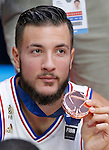 France's Joffrey Lauvergne during European championship basketball match for third place between France and Serbia on September 20, 2015 in Lille, France  (credit image & photo: Pedja Milosavljevic / STARSPORT)