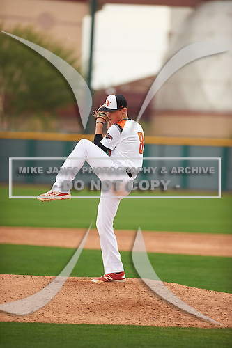 Damon Keith (8) of REDLANDS EAST VALLEY High School in Redlands, California during the Under Armour All-American Pre-Season Tournament presented by Baseball Factory on January 14, 2017 at Sloan Park in Mesa, Arizona.  (Zac Lucy/Mike Janes Photography)