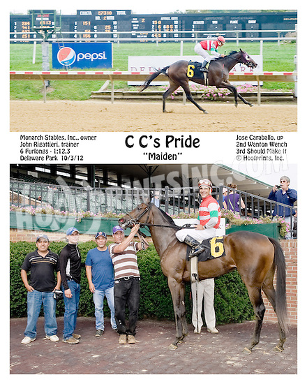 C C's Pride winning at Delaware Park on 10/3/12