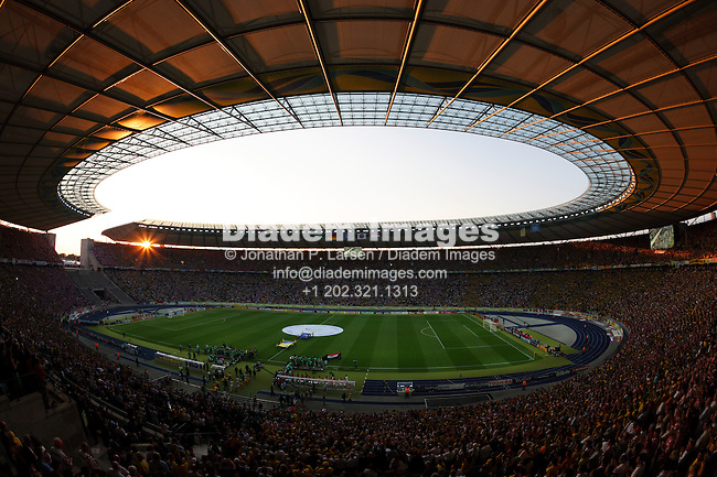 BERLIN - JUNE 13:  General view of Olympic Stadium prior to the start of a 2006 FIFA World Cup soccer match between Brazil and Croatia June 13, 2006 in Berlin, Germany.  (Photograph by Jonathan P. Larsen)