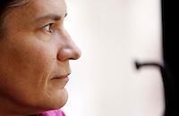 La scrittrice Silvia Ballestra ritratto in occasione del Festival Internazionale delle Letterature a Roma, 18 giugno 2014.<br /> Italian writer Silvia Ballestra portrayed on the occasion of the International Literature Festival, in Rome, 18 June 2014.<br /> UPDATE IMAGES PRESS/Riccardo De Luca