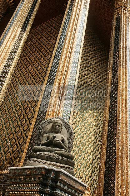 Thaïlande/Bangkok: Détail Wat Phra Kaeo