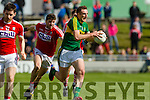 Brendan O'Sullivan Kerry in action against Tom Clancy Cork in the National Football league in Austin Stack Park, Tralee on Sunday.