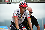 Alberto Contador (ESP) Trek-Segafredo crosses the finish line at Peyragudes at the end of Stage 12 of the 104th edition of the Tour de France 2017, running 214.5km from Pau to Peyragudes, France. 13th July 2017.<br /> Picture: ASO/Pauline Ballet | Cyclefile<br /> <br /> <br /> All photos usage must carry mandatory copyright credit (&copy; Cyclefile | ASO/Pauline Ballet)