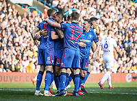 Bolton Wanderers' Mark Beevers celebrates scoring his side's first goal with his team mates <br /> <br /> Photographer Andrew Kearns/CameraSport<br /> <br /> The EFL Sky Bet Championship - Leeds United v Bolton Wanderers - Saturday 23rd February 2019 - Elland Road - Leeds<br /> <br /> World Copyright © 2019 CameraSport. All rights reserved. 43 Linden Ave. Countesthorpe. Leicester. England. LE8 5PG - Tel: +44 (0) 116 277 4147 - admin@camerasport.com - www.camerasport.com
