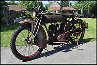 BNPS.co.uk (01202 558833)Pic: CharterhouseAuctions/BNPS<br /> <br /> A vintage motorcycle has emerged for sale for &pound;20,000 despite the fact it's currently caked in rust and has not been ridden in over 40 years.<br /> <br /> The 1921 Indian Powerplus was bought by its current owner, a farmer and motorcycle enthusiast, as a project in 1975 but has not been ridden since.<br /> <br /> Instead it has lingered for several years in a West Country barn getting rustier and less usable.<br /> <br /> He did start to restore the motorcycle once but gave up after he replaced a rusty front wheel deciding that it was such an original state that preservation was better than restoration, and pushed it back into his barn.<br /> <br /> It is now to sell with Charterhouse Auctions of Sherborne, Dorset, who have given the bike a pre-sale estimate of between &pound;10,000 and &pound;20,000.