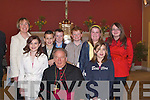 A great day for the Pupils of Flemby National School, Ballymacelligott as they were confirmed on Thursday by Bishop Bill Murphy in St Brendan's Church, Cloghers. Emily Corkery, Laura D'Arcy, Claire McCarthy, Annie O'Donnell, Stephen Eager, Liam Sten, Nicky Marshall and Teacher Fiona Cooke..    Copyright Kerry's Eye 2008
