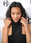 Zoe Saldana attends the New Films Cinema's Premiere of Burning Palms held at The Arclight Theatre in Hollywood, California on January 12,2011                                                                               © 2010 DVS / Hollywood Press Agency